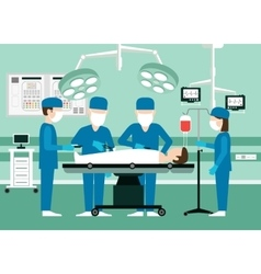 Medical concept surgeons in operation vector