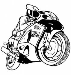 motorcycle racing vector image