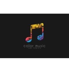 Note logo Music logo Creative logo Color logo vector image vector image