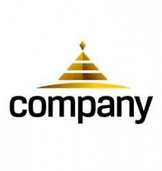 piramide logo vector image vector image