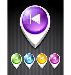 previous icon vector image vector image