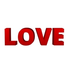 red word Love vector image