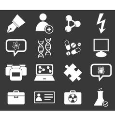 Science icon set 6 monochrome vector