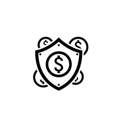 secure transactions icon flat design vector image vector image