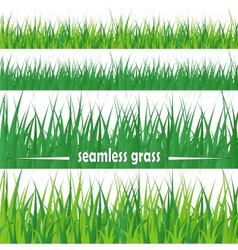Set of seamless grass vector