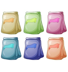 Six pouch bags collection vector image vector image