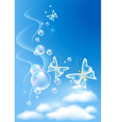 sky and clouds vector image vector image