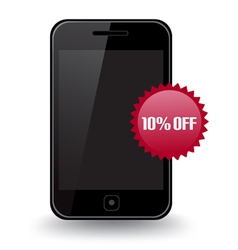 Smart Phone Discount vector image vector image