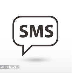 Sms flat icon sign sms message vector