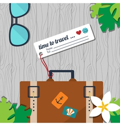 time to travel card vector image