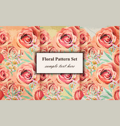 vintage floral pattern background grunge vector image vector image