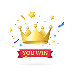 you win success achievement concept vector image vector image