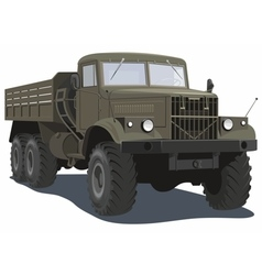 Military heavy truck vector