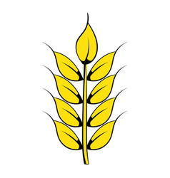 Ear of barley icon cartoon vector