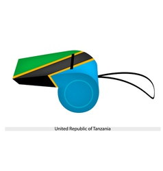 A whistle of united republic of tanzania vector