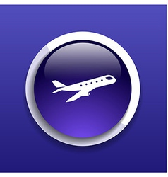 Airplane plane symbol travel icon flight flat labe vector