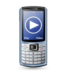 modern cell phone vector image