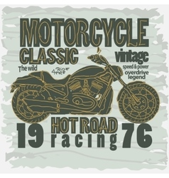 Motorcycle racing t-shirt - vector