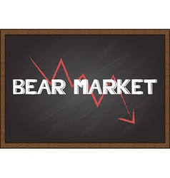 Bear market vector