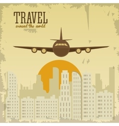Travel design tourism icon vintage vector