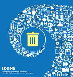 Recycle bin reuse or reduce sign symbol nice set vector