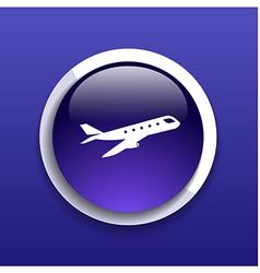 Airplane plane symbol travel icon flight flat labe vector