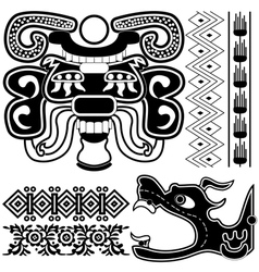 ancient american patterns vector image
