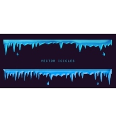 Blue icicles set vector