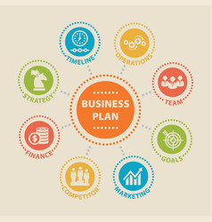 Business plan concept with icons vector