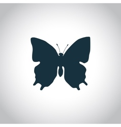 Butterfly simple icon vector