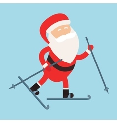 Cartoon santa winter sport vector