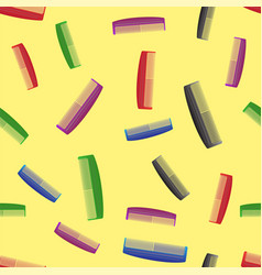 Colorful combs seamless pattern vector