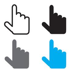 cursor icon flat design style cursor sign vector image