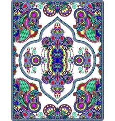 elaborate original floral large area carpet design vector image