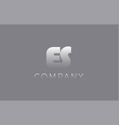es e s pastel blue letter combination logo icon vector image vector image