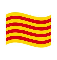 Flag of catalonia vector
