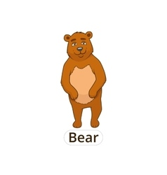 Forest animal bear cartoon for children vector