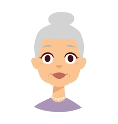 Granny face vector image