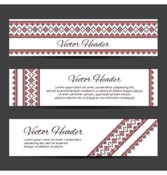 Header or banner design template vector image vector image