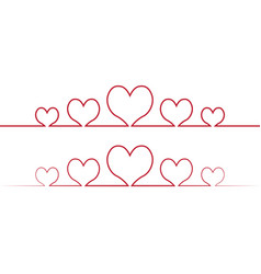 heart one line drawing love concept one vector image vector image