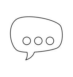 Line chat bubbles to message icon vector