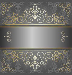 luxury background with golden patterns vector image vector image