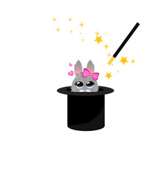 magic hat bunny ears vector image