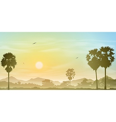 Palm Tree Landscape vector image