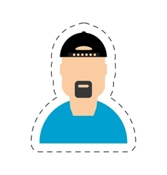 People casual man with hat icon image vector