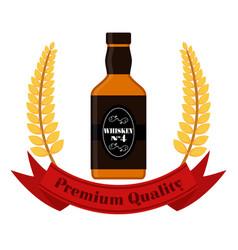 premium quality whiskey whiskey bottle vector image vector image