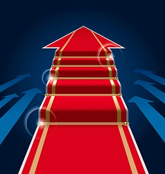 red carpet arrow vector image