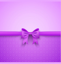 Romantic purple background with cute bow and vector