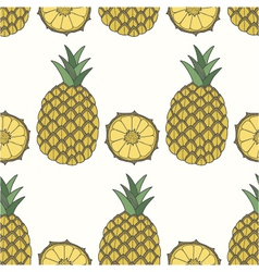 Seamless pattern of pineapples fruit background vector