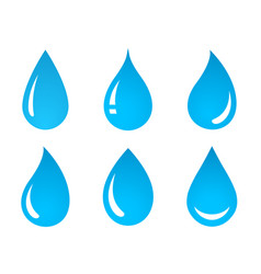 Set of water drop icons vector
